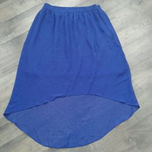 Forever 21 high low royal blue skirt size M